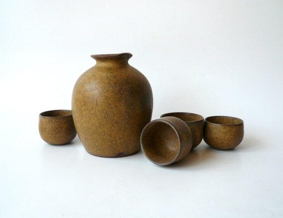 Silky Sake Set for Four