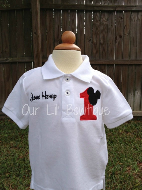 Mickey Mouse Inspired Personalized Birthday By Ourlilbowtique