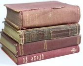 Vintage 4 pink dusty books Auldlangsyne1  READY to SHIP  Decor  interior wedding