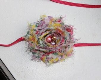 Spring Petite Chiffon Baby Flower Headband, Newborn Headband, Baby Girl Flower Headband, Photography Prop