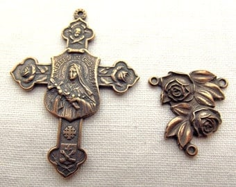 Bronze St. Therese of the Little Flower Chaplet Set St Therese of Lisieux VP409/003