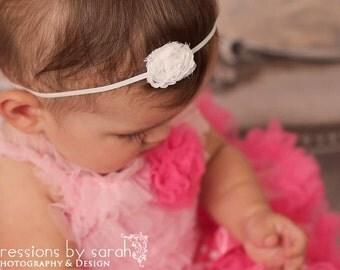 baby girls headband..baby headbands..white headband..girls white headband..babys white headband..