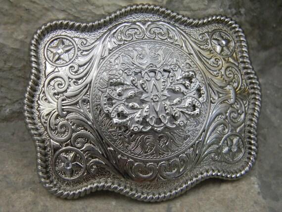 mens belt buckle silver belt buckle western engraved womens