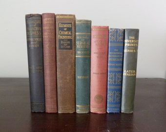 Antique Vintage College School Textbook Collection
