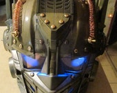 Steampunk Optimus Prime mask with voice changer and Blue LED Light up eyes.