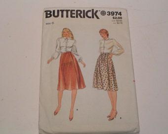 Vintage Butterick Pattern 3974 Miss Skirt