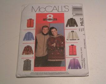 McCalls Pattern 3784 Miss Mens Jacket Vest