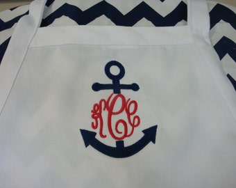 Nautical Apron Monogrammed