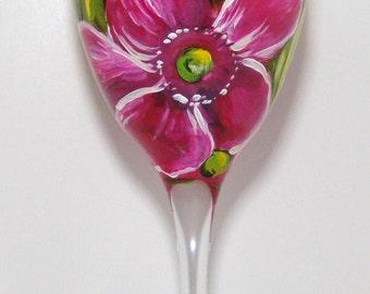 Think Pink wine glass