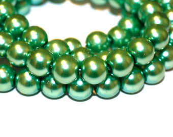 80pc Loose Green beads/ Bracelet beads / Necklace Beads/Basketball Wives/ 10mm