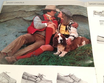 1981 HUSH PUPPIES Shoe Catalog Plus GOLF Shoes Insert Color Chart Shoes Boots Purses