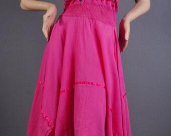 Gorgeous Carnation Pink Floral Dress