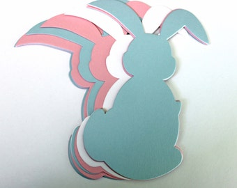 Die Cut Paper Rabbits - Large