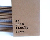 Family Tree MOLESKINE® notebook: 'my posh family tree' for those researching their family past and recording ancestry and genealogy.
