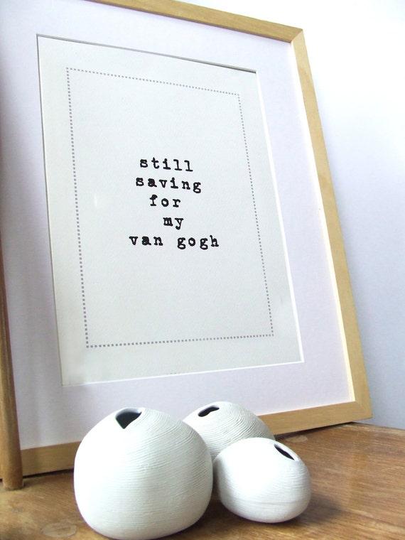 Funny Typographic Art Print