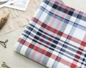 RESERVED - Prewashed Lightweight Cotton Fabric Tartan Check - Red Blue - Asa Cotton - By the Yard 78708