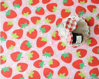 Waterproof Fabric Strawberry - Pink - By the Yard 39427