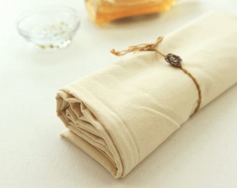 Soft Cotton Cloth - Natural Color - 61 inch wide - By the Yard 42754