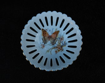 Hand Decorated Porcelain: Candy Dish