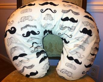 Mustache Nursing Pillow Cover