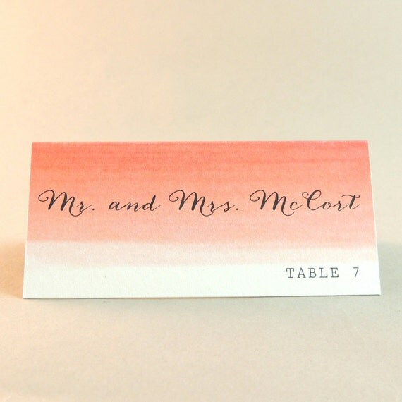 Eve Suite - 'Coral Ombre' Escort / Place Card