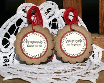 Homemade Gift Tag - Set of 8 Homemade Just for YouTags