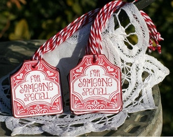 Handmade Gift Tags - Set of 12 - To Someone Special Tags with Baker's Twine