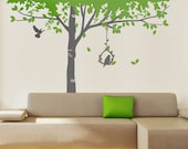 Tall Birch Tree Vinyl Wall Sticker | 285 x 250 cm / 112 x 98 inches