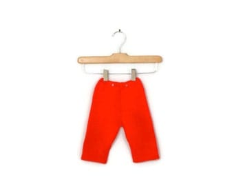 Vintage Cherry Red Knit Pants Newborn