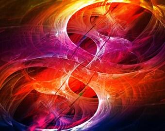 Crossorads - fractal artwork download, original home / interior decoration