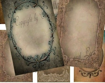Digital Grunge Hang Tags, Digital Grunge Cards, Digital Collage Sheets  No 878
