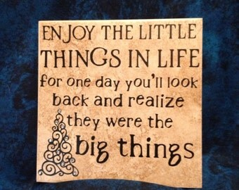 The Little and Big Things Tile