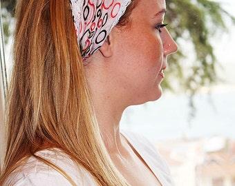Headband, Hairwrap,  Turband, Hairwrap, Women's Fashion Hair Band,  Accessories Headband, Yoga Headband, Turkish Yemeni, Orange Flowers