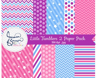 INSTANT DOWNLOAD, little tumblers digital paper, gymnastics background,  for commercial or personal use, scrapbooking, printable party