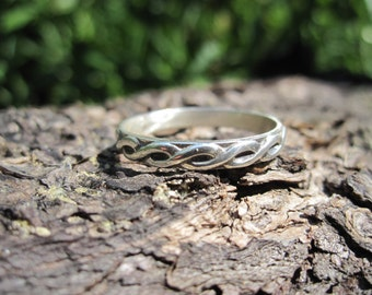 Sterling Silver Braided Rope Band