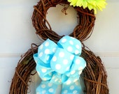 PRE-ORDER! Limited Availability - Easter Bunny Wreath - Spring Wreath - Summer Wreath - Easter Door Decoration