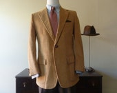 Vintage J. Press Tan Corduroy Sack Jacket with Patch Pockets 40 or 41 R. Made in USA.