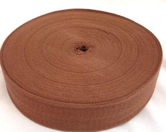 Cotton Twill Tape 2 inches wide 10 yards long Chocolate Brown