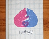 Cats I Love You Card