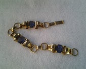 Coro Bracelet, Gold Tone Violet Rhinestones