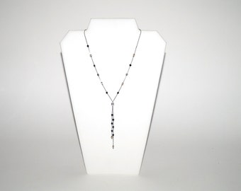 Chic Vintage Bead & Chain Necklace