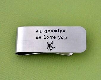 money clip for father, Money Clip Personalized metal, custom Money Clip, aluminum Clip hand stamped Money clip, father gifts, grandfather