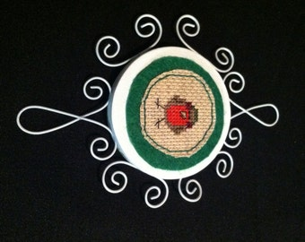 Wood and Wire Christmas Ornaments - Cross Stitch -Snow Bird Series