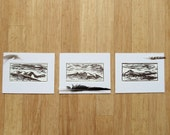 colorado mountains wood block print set // fraser valley series