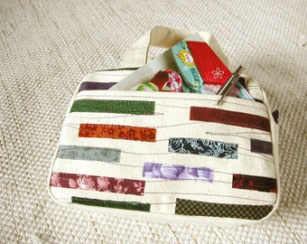 Mini handbag made of canvas cotton, large pencil case - Reduced to clear!