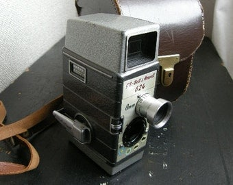 1950s,60s 8mm movie camera, bell and howell 624  with leather case, Free uk postage