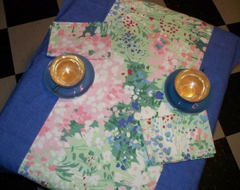 """TABLECLOTH and  2 NAPKINS - """"Tea For Two"""""""