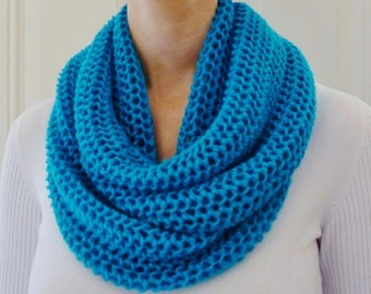 ON SALE - Aqua Infinity Scarf - Turquoise Infinity Scarf - Circle Scarf - Ready to Ship