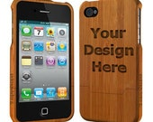 Personalized Wood iPhone 5/5s case (Email us your design for Engraving)