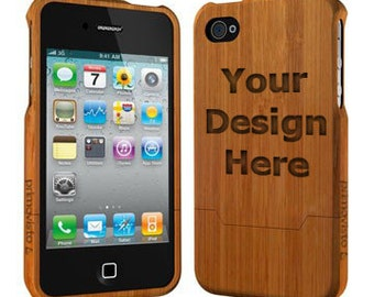 Personalized Bamboo Wood iPhone 5/5s case (Email us your design for Engraving)